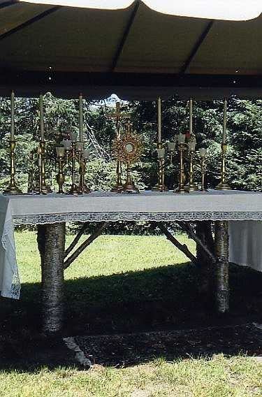 Outdoor Exposition of the Blessed Sacrament